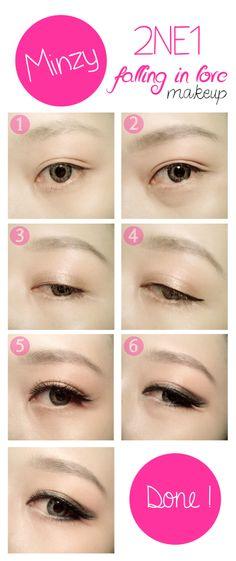Minzy's  Makeup On 2ne1 Falling In Love MV #minzy #2ne1 #2ne1makeup #makeuptutorial #koreanmakeup