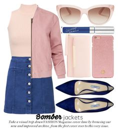 """BOMBER JACKETS"" by noraaaaaaaaa ❤ liked on Polyvore featuring WearAll, Witchery, Helmut Lang, Prada, Charlotte Russe, Tory Burch and Kate Spade"