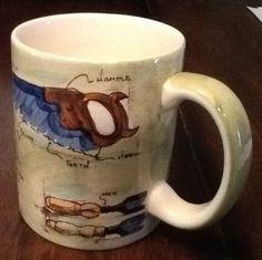 Restoration Hardware Ceramic Mug Cup Handyman Carpenter Vintage Style Hand Tools in Collectibles | eBay Sold $14.99