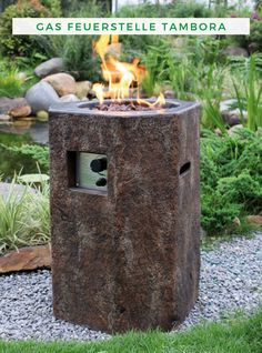 If you like a rustic and natural feel, then the Elementi Basalt Propane Fire Pit is for you. Putting off a heat output of BTUs, this fire pit is extremely practical and attractive. Rim Fire Pit, Fire Pit Fuel, Steel Fire Pit, Wood Burning Fire Pit, Concrete Fire Pits, Rustic Outdoor Spaces, Outdoor Decor, Wood Charcoal, Basalt Columns