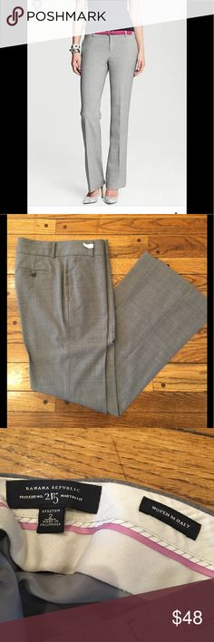 Sale! Banana Republic Martin 215 suit pants Grey melange Martin fit 215 wool pants.  In perfect condition!  Beautiful pants.  Too large for me..... Banana Republic Pants Trousers
