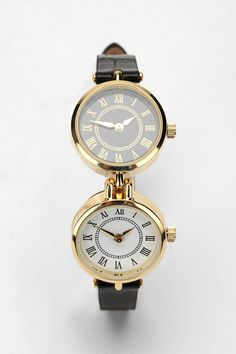 Double Case Leather Watch  #UrbanOutfitters