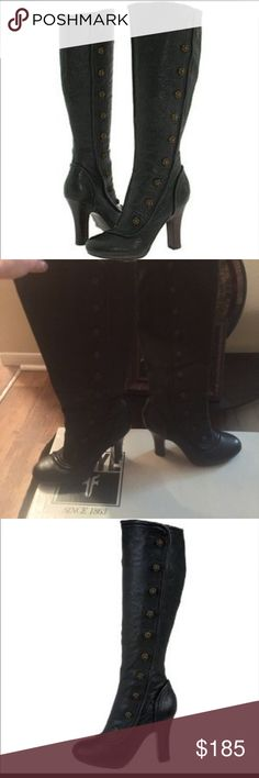 FRYE Matilda Button Boots FRYE Black Matilda Button boots. Stunning, show stoppers!! Worn 3 times, kept in original box. Frye Shoes Heeled Boots