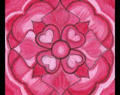 Mandala del amor por TheGingerWombat en Etsy