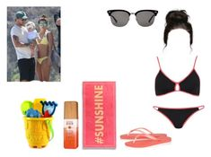 """""""Beach with Louis,Freddie and Danielle"""" by cavallaro ❤ liked on Polyvore featuring Topshop, Havaianas, Gucci and Alterna"""