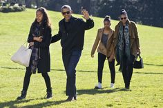 President Barack Obama waves as he walks across the South Lawn with daughter Malia, left, followed by Sasha Obama and first lady Michelle Obama, on their return to the White House, in Washington, Sunday, Jan. 3, 2016, after a family vacation in Hawaii. (AP Photo/Jacquelyn Martin) via @AOL_Lifestyle Read more: http://www.aol.com/article/2016/07/27/obama-donald-trump-win-election/21439870/?a_dgi=aolshare_pinterest#fullscreen