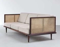 Martin Eisler; Jacaranda and Cane Sofa for Forma, 1950s.