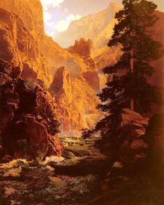 The Spirit Of Transportation, huile de Maxfield Parrish (1870-1966, United States)