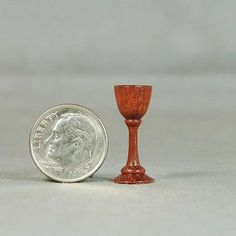 Dollhouse Miniature Woodturning Bloodwood Goblet