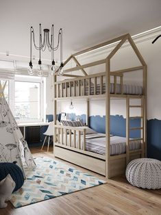The Kid's Room Inspiration To Make Your Heart Melt! 6 kid's room inspiration The Kid's Room Inspiration To Make Your Heart Melt! The Kids Room Inspiration To Make Your Heart Melt 6 Baby Bedroom, Girls Bedroom, Bedroom Ideas, Bedroom Decor, Cool Kids Bedrooms, Kids Room Design, Contemporary Interior Design, Kid Spaces, Kid Beds