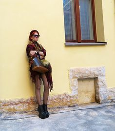 The wardrobe of Ms. B: Burgundy