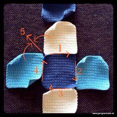 Terning med rasleboks_3 Baby Barn, Crochet Baby, Knitted Hats, Knitting, Sewing, Creative, Cuffs, Tips, Ideas