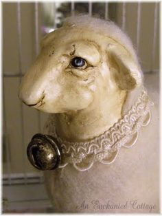 vintage sheep ornament