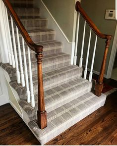 Carpet Style: Madera on the stairs. Photo courtesy of Carpet Style: Madera on the stairs. Photo courtesy of Carpetladykc Carpet Diy, Cost Of Carpet, Hotel Carpet, Wall Carpet, Modern Carpet, Bedroom Carpet, Living Room Carpet, Carpet Flooring, Carpet Ideas