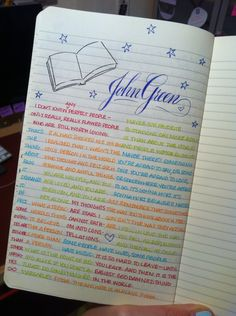 staticofthecalls:  I'm quite liking the John Green quotes page I added to my journal today.