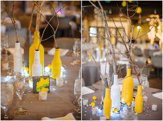 Denver Wedding Photographer | Yellow and gray wedding