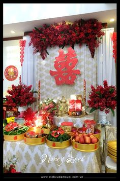 Vietnamese wedding tea ceremony after all the gifts have been trang tr nh l gia tin 6g chinese wedding decorchinese junglespirit Gallery