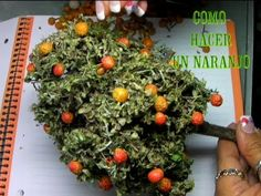 DIY COMO HACER UN NARANJO PARA EL BELÉN, PESEBRE - HOW TO MAKE AN ORANGE...