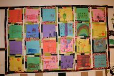 paper sculpture for kids   Pink and Green Mama: Art History: Faith Ringgold Paper Quilts
