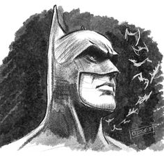 Drawing of Batman from DC Comics made with graphite pencil by myself Cartoon Faces, Girl Cartoon, Cartoon Drawings, Goku Drawing, Mask Drawing, Illustration Sketches, Sketch Art, Spiderman Drawing, Realistic Cartoons