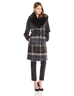 Vera Wang Women's Sohphie Plaid Wool Coat with Faux Fur Collar, Deep Charcoal, X-Small Vera Wang http://www.amazon.com/dp/B011PTQCEM/ref=cm_sw_r_pi_dp_pENfwb1V2NM3M