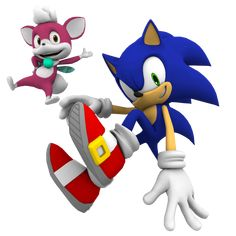 Sonic the Hedgehog and Chip (Sonic Unleashed)
