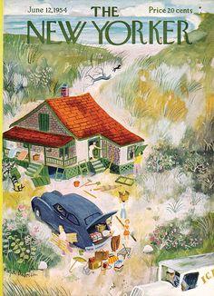 NEW YORKER JUNE 12TH, 1954   House illustration  #illustration #houseillustration #art #artwork Roger Duvoisin, Expensive Sports Cars, Book Of Kells, House Illustration, Encaustic Painting, Chalk Pastels, Illuminated Letters, Wood Engraving, Linocut Prints