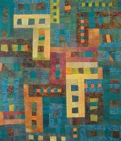 A Clearing in the Woods by Cinda Langjahr  - I love the colors and the dreamy quality of this quilt.