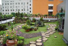 jardin creativo en la azotea, jardines colgantes