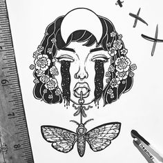 Get lost in a universe of doodley goodness with these black and white illustrations!