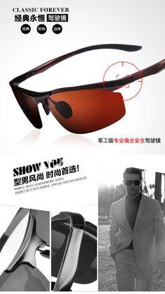 cool Super Cool Men Aluminum Magnesium Driving Polarizer Sunglasses Polarized Sun Glasses Riding Oculos De Sol Masculino Gafas G31