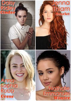 TLC (the lunar chronicles) Girls | dream cast | my edit (ElisabethWhite)<<<<<I almost never do this but these would be perfect!!! Especially Cress and Cinder