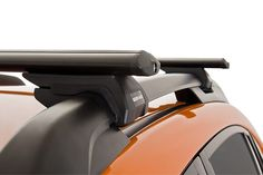 rhino rack aero bar roof rack mounted