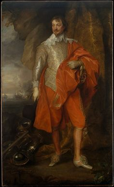 """""""Robert Rich, Second Earl of Warwick"""" by Anthony van Dyck (1632-1635) at the Metropolitan Museum of Art, New York - From the curators' comments: """"A Puritan sailor of fortune, the first earl of Warwick set up companies in Virginia and the Caribbean, helped colonize Connecticut, Massachusetts and Rhode Island, and seized Spanish ships on behalf of the Duke of Savoy and Charles I. The latter's policies made Warwick side with Parliament as commander of the navy (from 1642)."""""""