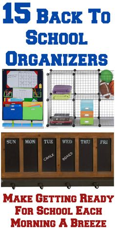 Getting ready on school mornings can be difficult both for kids and adults. Use some of these 15 back to school organizers to help you get your mornings back under control. #ad