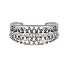 Montana Silversmiths Feathered Crown Cuff Bracelet