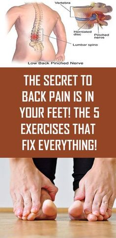 The Secret to Back Pain is in Your Feet! The 5 Exercises that Fix Everything! The Secret to Back Pain is in Your Feet! The 5 Exercises that Fix Everything! The Secret to Back Pain is in Your Feet! The 5 Exercises that Fix Everything! Health Benefits, Health Tips, Health And Wellness, Health Fitness, Health Diary, Women's Health, Health Unit, Foot Exercises, Back Pain Exercises