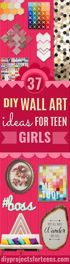 Decorating your own room? Looking for a chic, feminine and sleek DIY wall art to snap up your room? Looking for something pink, but not so pink? Stylish but not overwhelming? Fun but not overpowering? Good news is, we've got all you want here! DIY your wall to awesome wall decor with these crafty i