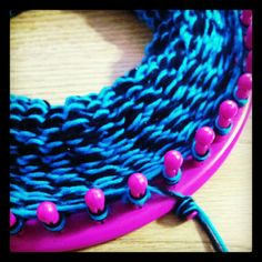 Infinity Scarf/Cowl Tutorial For this tutorial you will need: Largest round loom in the set (mine is a 41 peg round loom) Loom Knitting Hook Crochet Hook (I used a size J) Yarn (you can double or s...