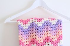 Crochet | Chevron blanket tutorial | Bella Coco