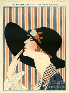 French Drawing - La Vie Parisienne 1918 France G by The Advertising Archives Art Deco Posters, Vintage Posters, Art Deco Artwork, Wall Art, Moda Vintage, Vintage Art, Party Vintage, Inspiration Art, Ligne Claire