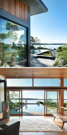 Flavin Architects Design A Poolside Guest House Overlooking The Ocean In  Gloucester, Massachusetts