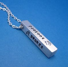 Harry Potter Inspired - The Marauders - A Hand Stamped Aluminum Bar Necklace. $19.95, via Etsy. chasingatstarlight