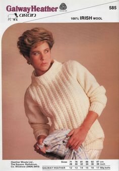 Free Knitting Pattern - Women's Sweaters: Ladies Aran Sweater