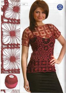 Top with different points of Crochet - Crochet Patterns