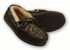 Camo Men's House Shoes birthday present idea for Leroy