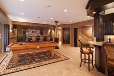home theater / pool room - note the columns