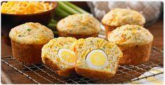 Les amoureux d��ufs cuits durs seront fous de ces muffins tendres et remplis de surprises !