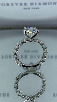 Cute Engagement Rings, Engagement Rings Black Diamond, Luxury Engagement Rings, Round Wedding Rings, Wedding Bands, White Gold Wedding Rings, Pretty Rings, Beautiful Rings, Dream Ring