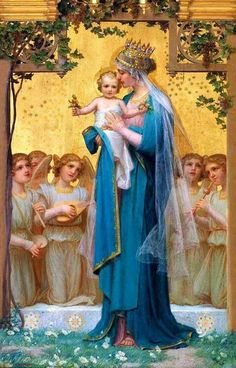 Blessed Mother Mary & baby Jesus...